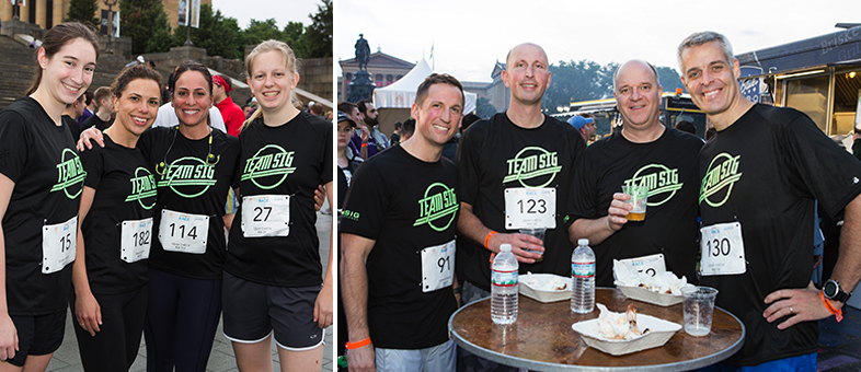 Team SIG at the Blossom 5K Night Race and After Party