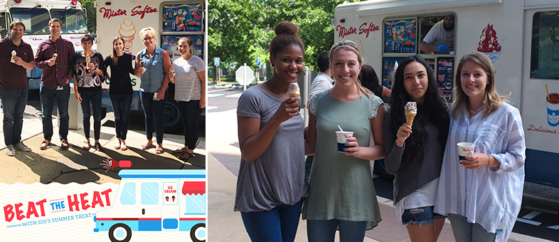 Surprising our SIG employees with Mister Softee!